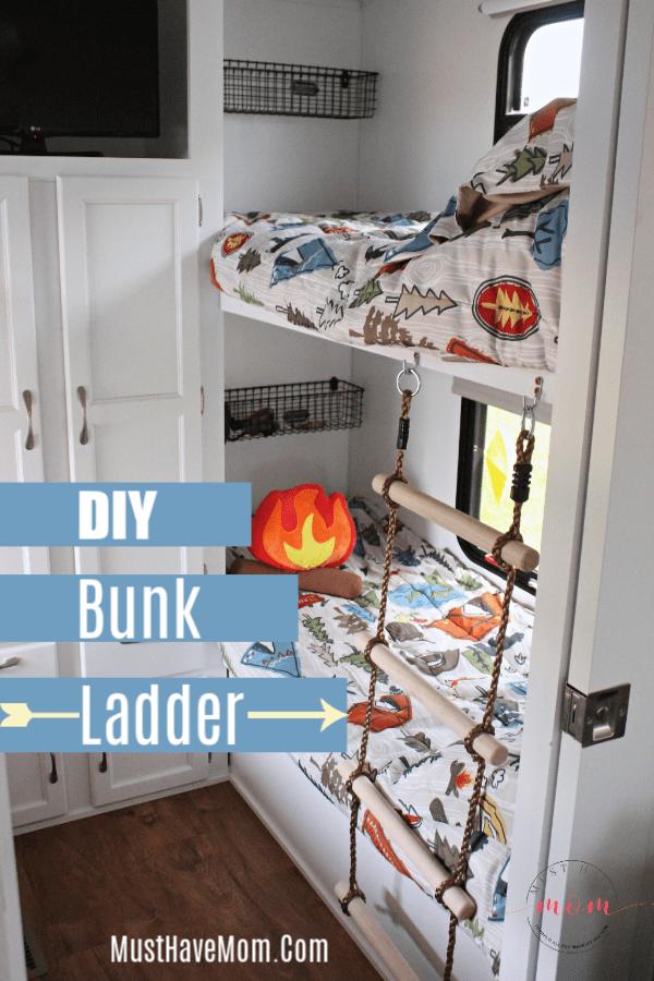 Rv Bunkhouse Remodel With Bunk Ladder Diy Diy Camper Remodel Remodeled Campers Glamper Camper