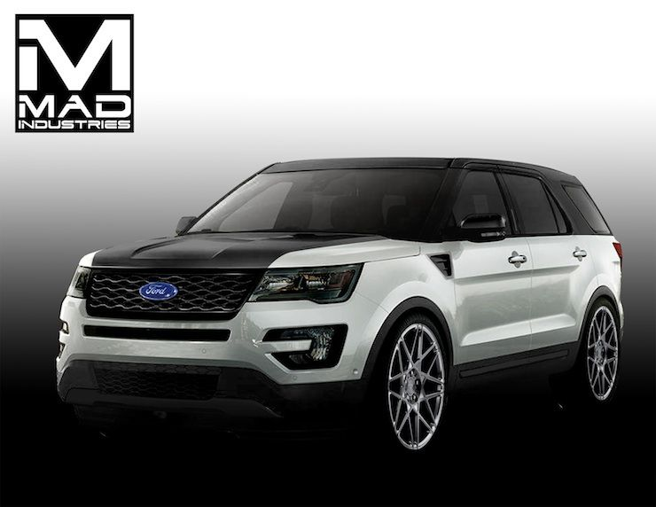 4 Wild 2016 Ford Explorer Sport Models Invade Sema Explorer