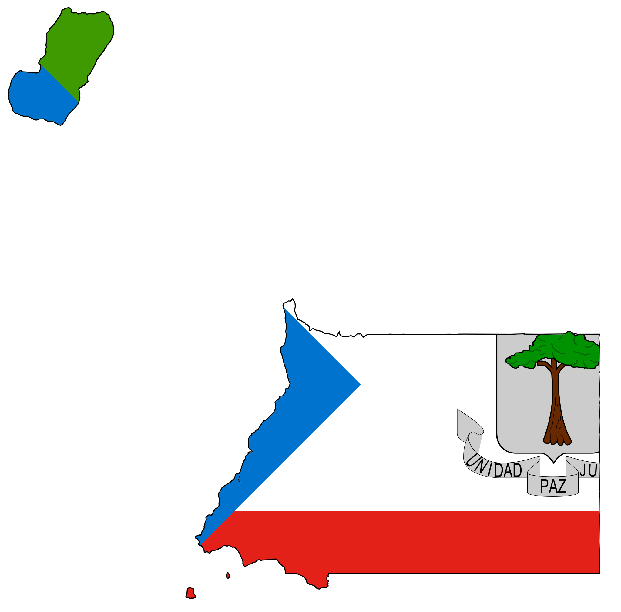 Equatorial Guinea Flag Map  적도기니 공화국