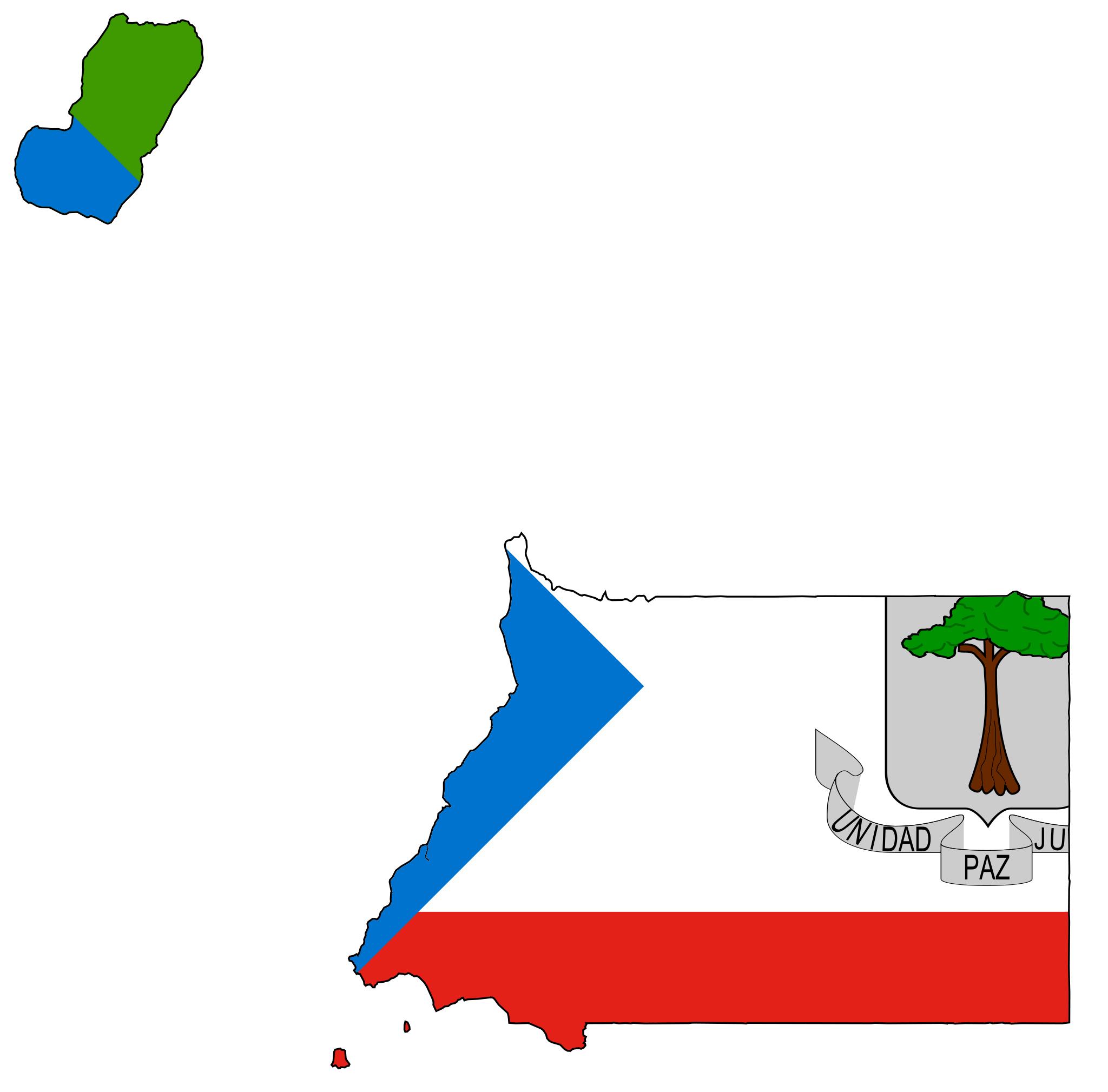 Equatorial Guinea Flag Map  적도기니 공화국