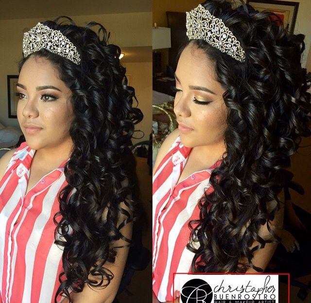 Quince Hairstyles hermoso cabellera con el pelo rizado quince hairstyleshairstyle Find This Pin And More On Quinceanera Hairstyles By Greatresistance