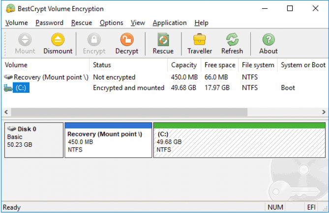 Bitlocker is a great encryption tool integrated into