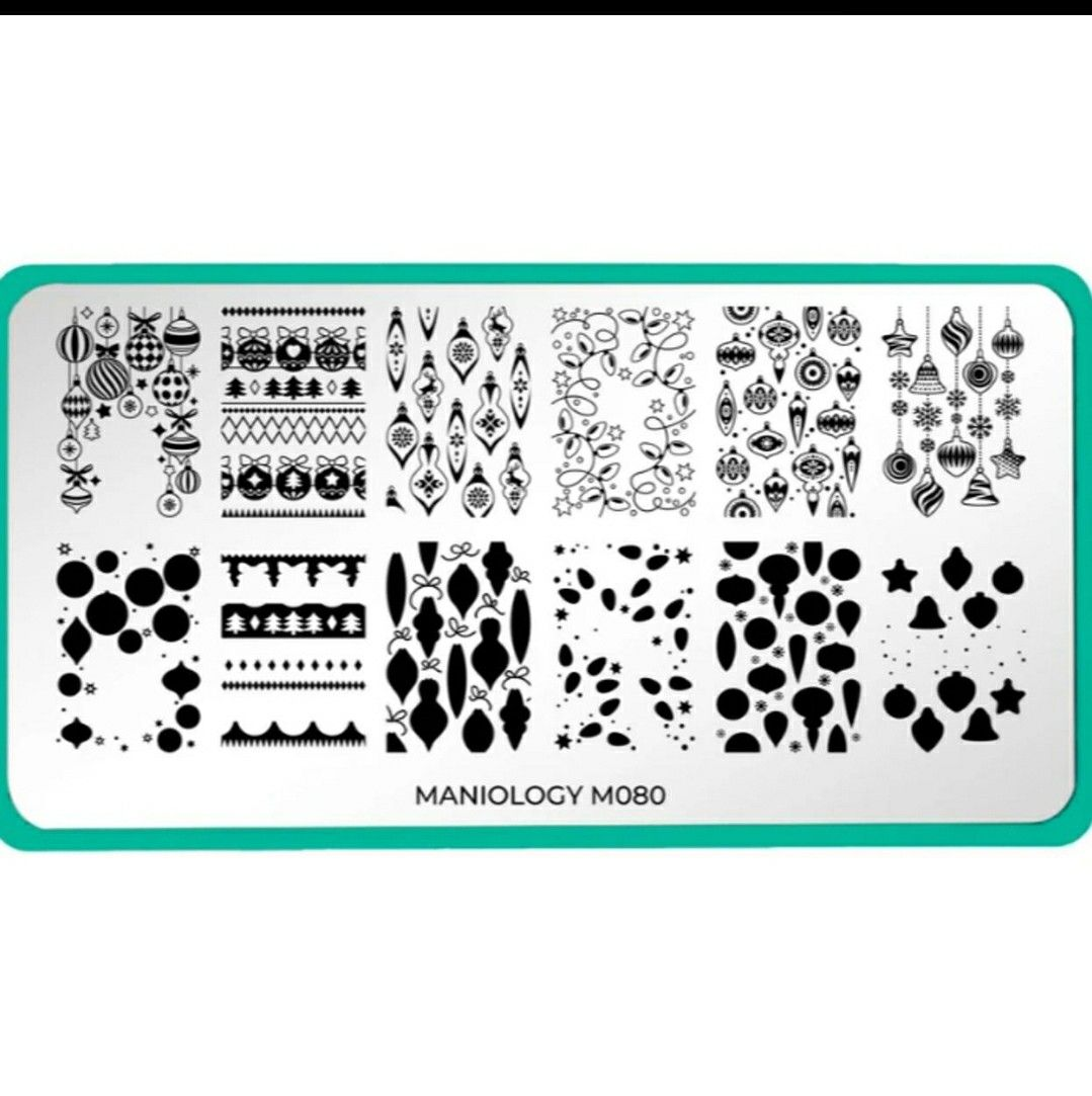 Best Christmas Nail Stamping Plates 2020 Maniology M080 in 2020 | Stamping plates, Nail stamping plates