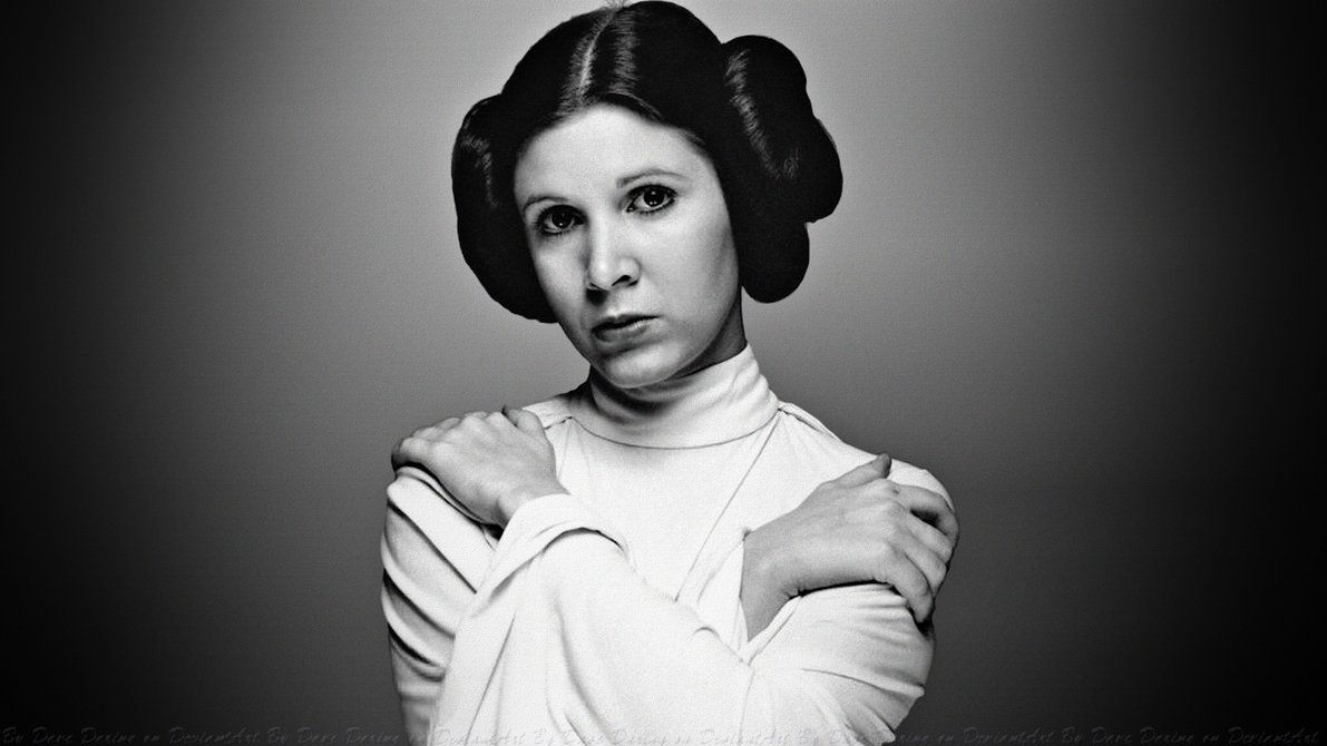 Carrie Fisher Princess Leia WALLPAPER