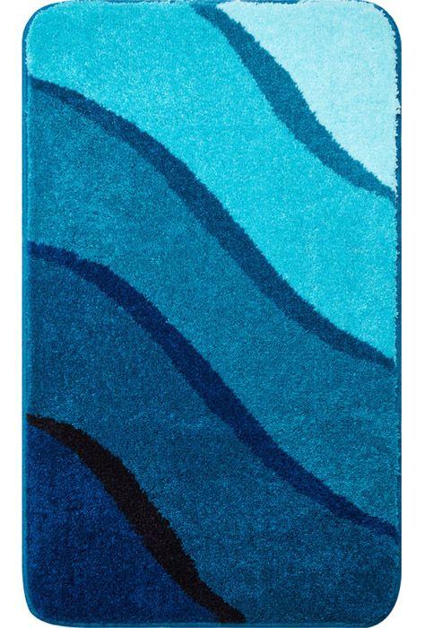 Der Auffallende Badteppich Duna In Verschiedenen Blau Und