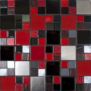 Kitchen Backsplash Red red, black, grey, white kitchen backsplash. great around master