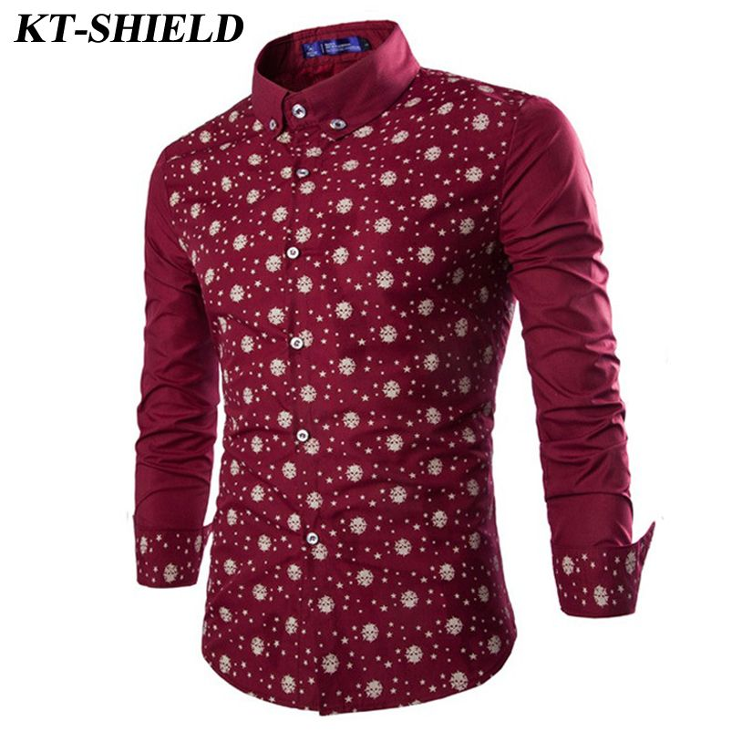 Autumn new Fashion Skull Print Men Shirts Slim fit Turn-down Collar High  Quality Male Shirts Casual Long sleeved Chemise Homme  Affiliate 21b3d6aefd