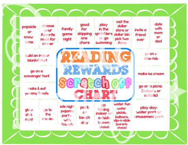 Reading Incentive Chart Make Your Own Scratch Off