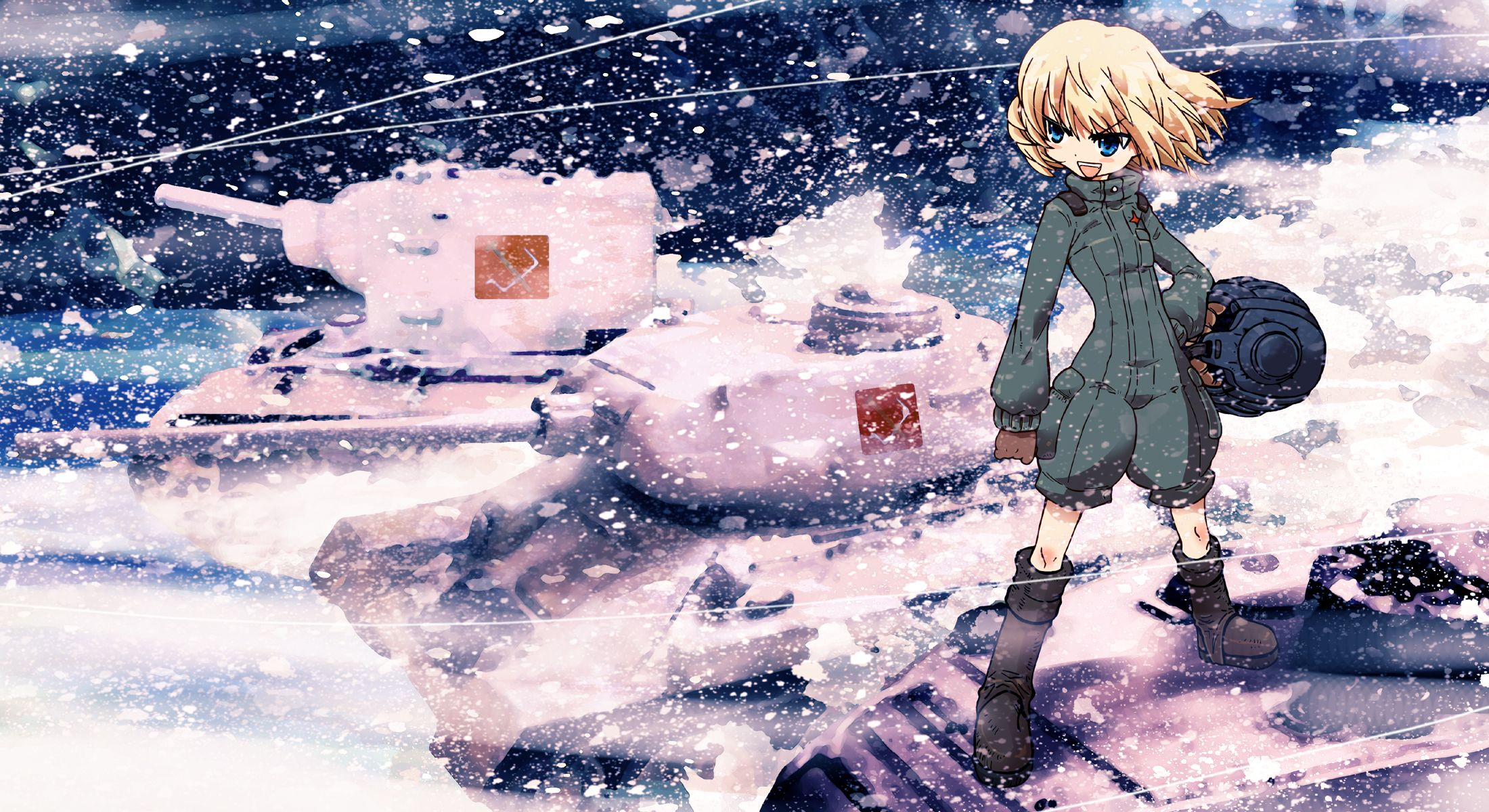 Girls Und Panzer Wallpaper Con Imagenes Tanques Novela Ligera
