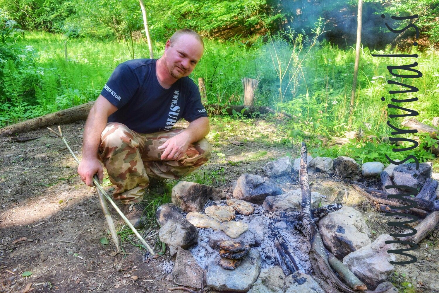Survival instructor, Aleš Š. Survival, Bushcraft, Hiking