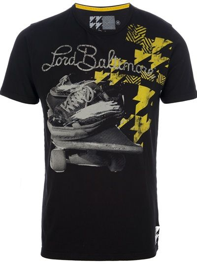 LORD BALTIMORE Black t-shirt with a white & yellow print