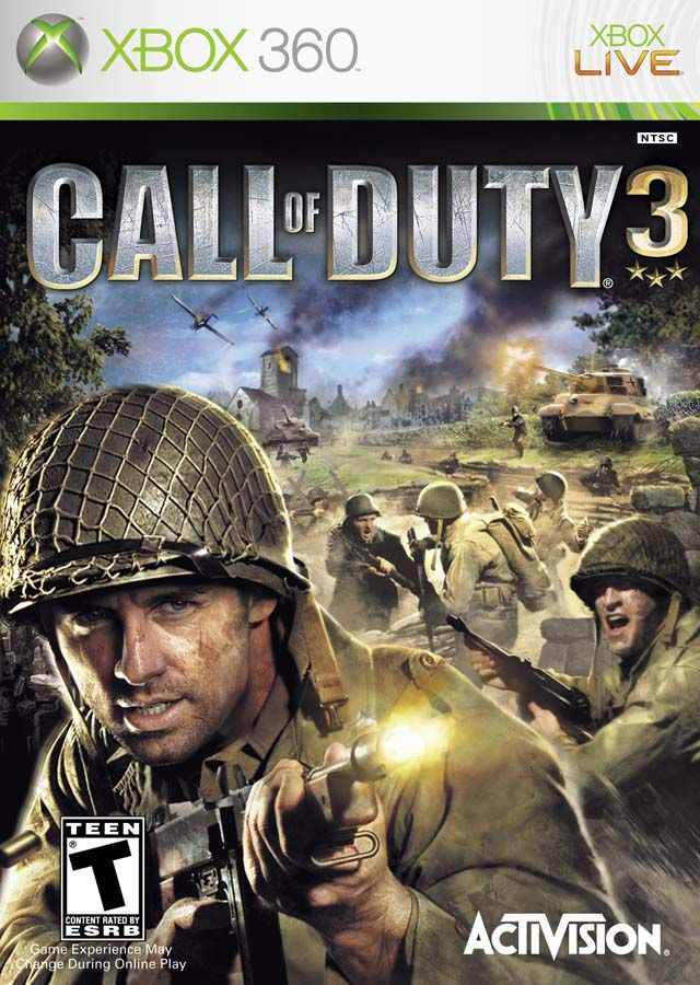 Call Of Duty 3 Launch Title For The Xbox360 Giving The Cod Series An Introduction Onto The Next Gen Platform While Remai Call Of Duty Activision Wii Games