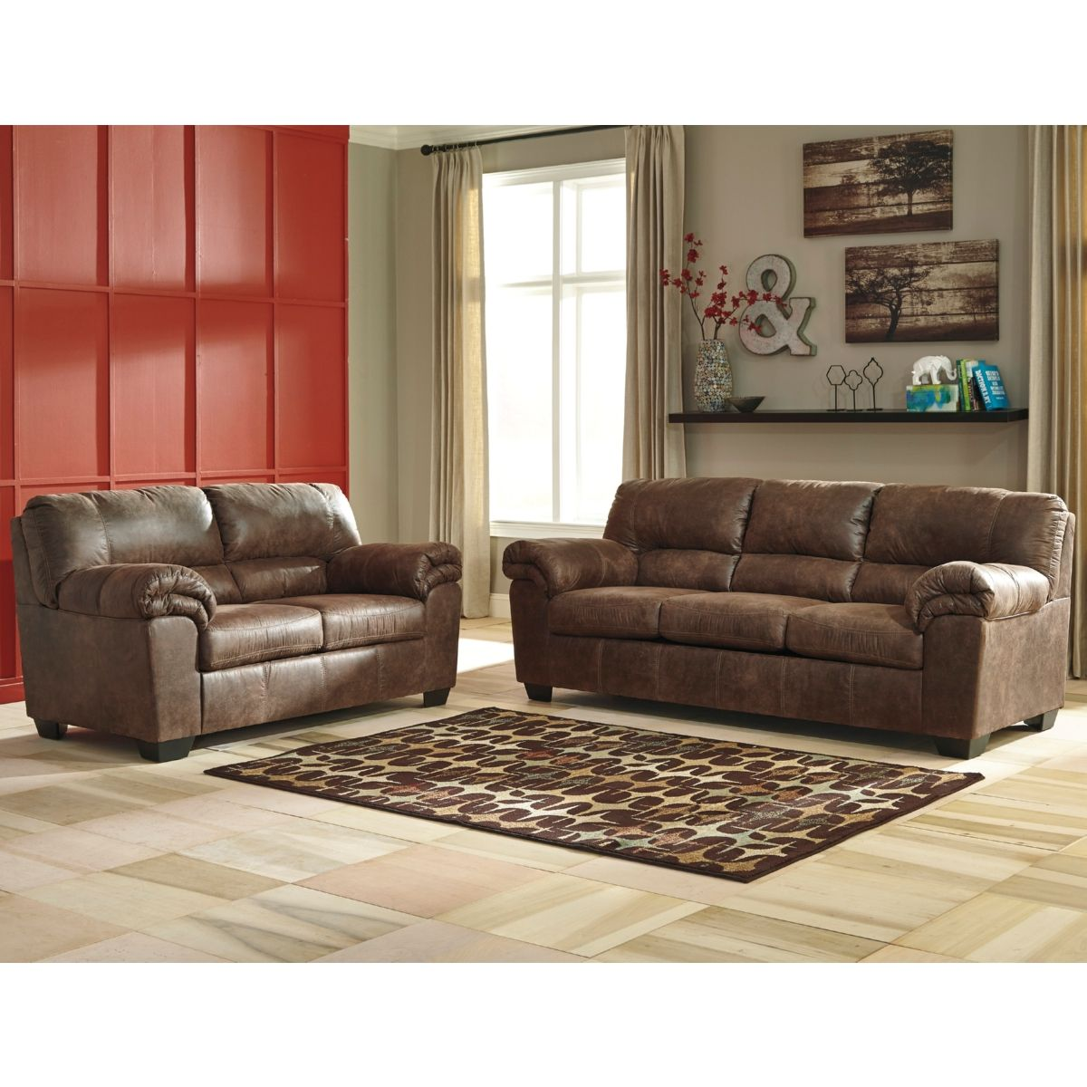 Signature Design By Ashley Bladen Sofa Loveseat In Coffee