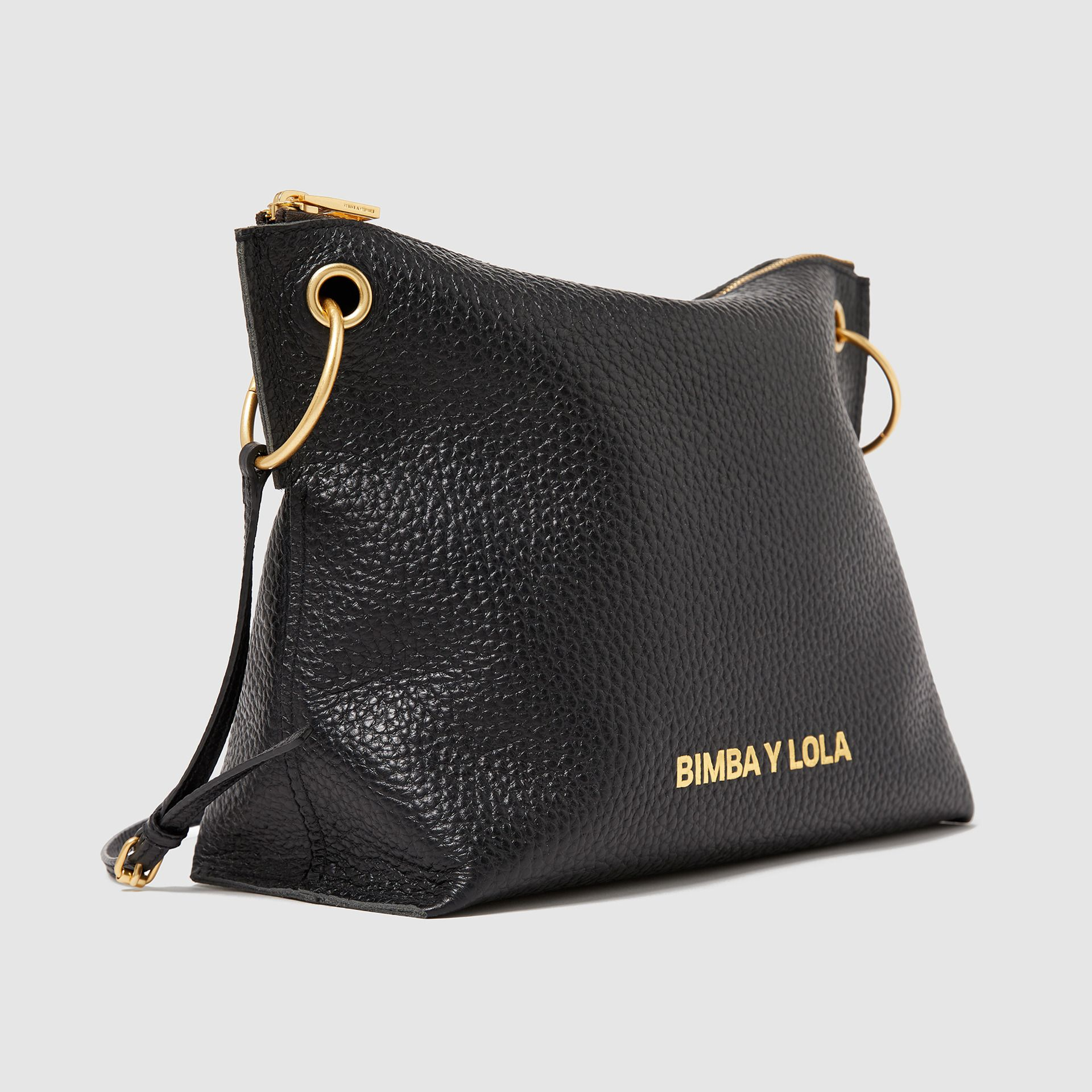 Trapezium Black Leather Crossbody Bag Bimba Y Lola Bolsos Bandolera Bolso Bandolera