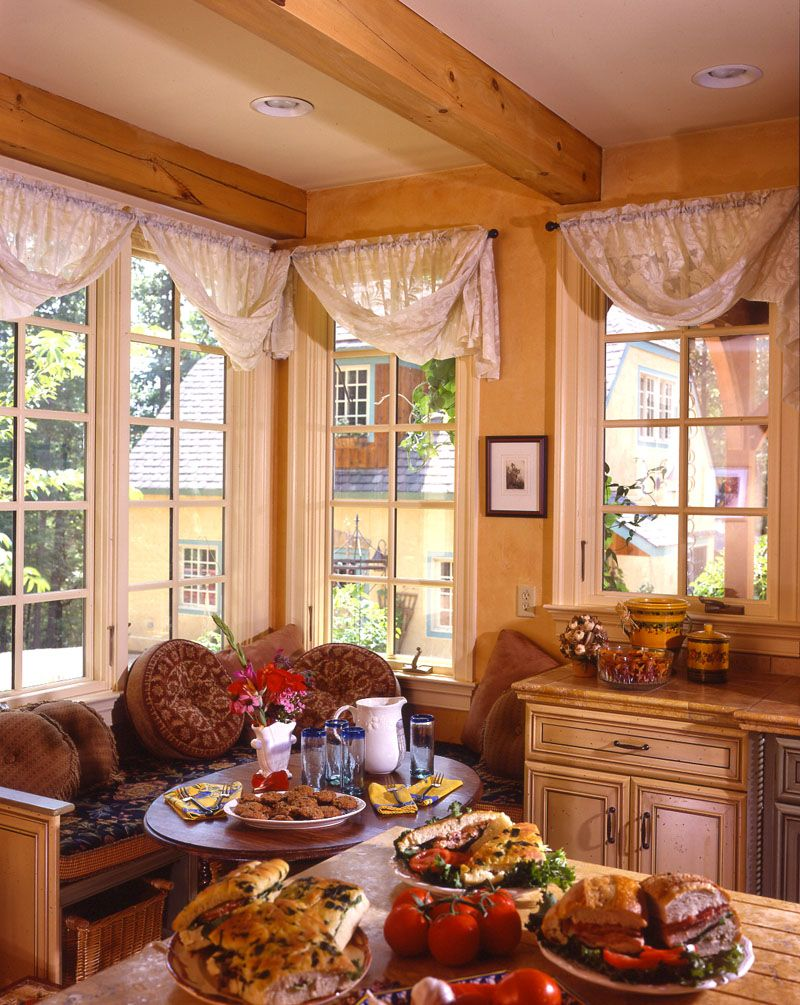 breathtaking tuscan style kitchen windows   tuscan decor - like all this. like the way curtains are ...
