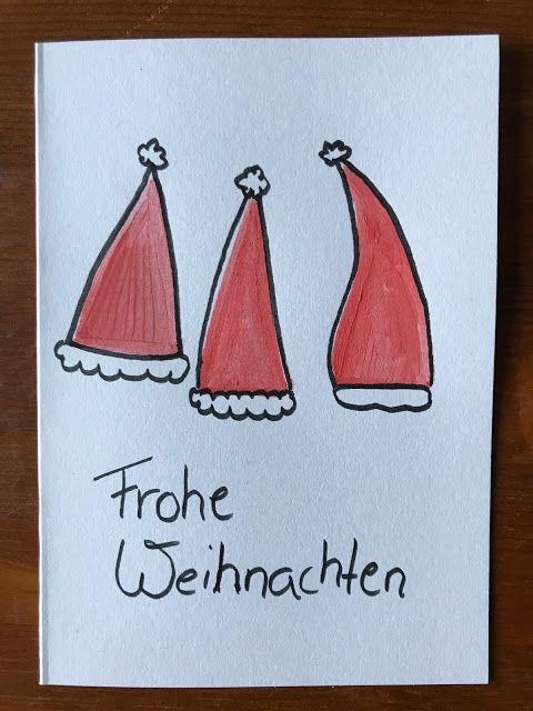 Kugelfisch-Blog - Der Mamablog aus dem Rheinland: Weihnachtskarten selber basteln mit Kindern - Easypeasy DIY
