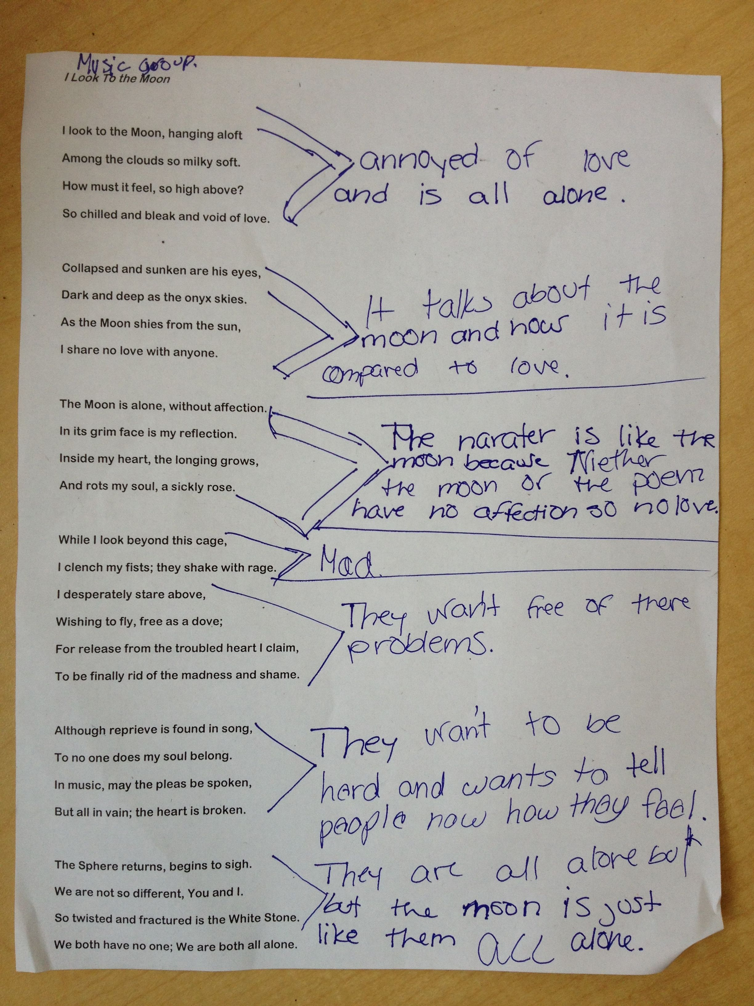 Poetry Annotation Planning Movements That Capture The