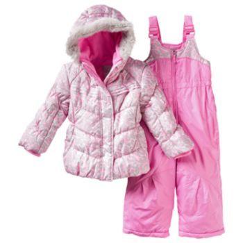 Toddler Girl Zeroxposur Kitty Jacket Amp Bib Snow Pants