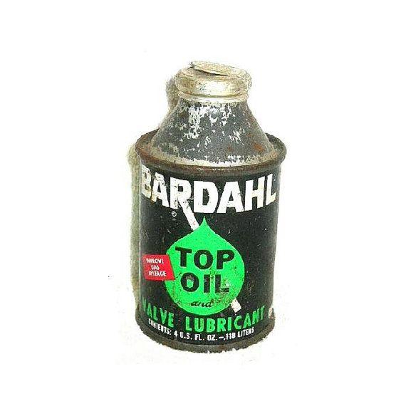 Vintage Bardahl Top Oil Valve Lubricant Unopened Automotive