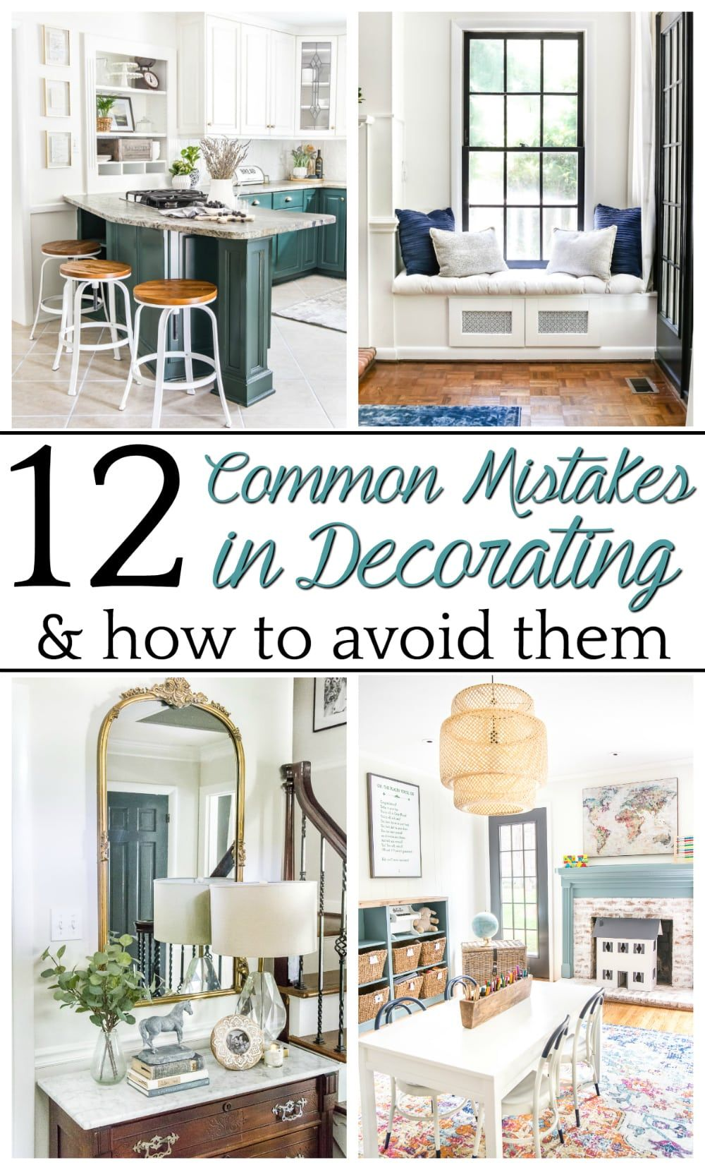 12 of the most common decorating mistakes most people make when choosing paint colors furniture layouts and styling and tips on how to avoid them