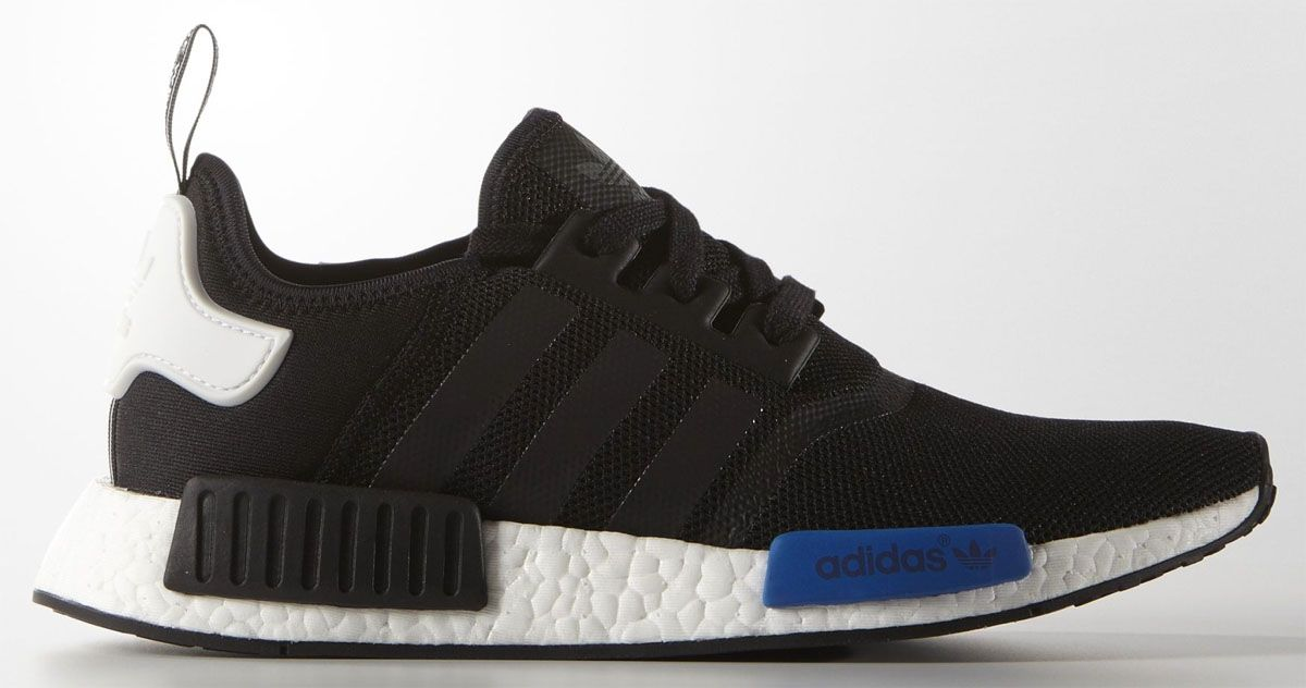 wholesale dealer 30401 8f9c5 Men's] adidas NMD Black/White-Blue | Adidas | Adidas, Adidas ...