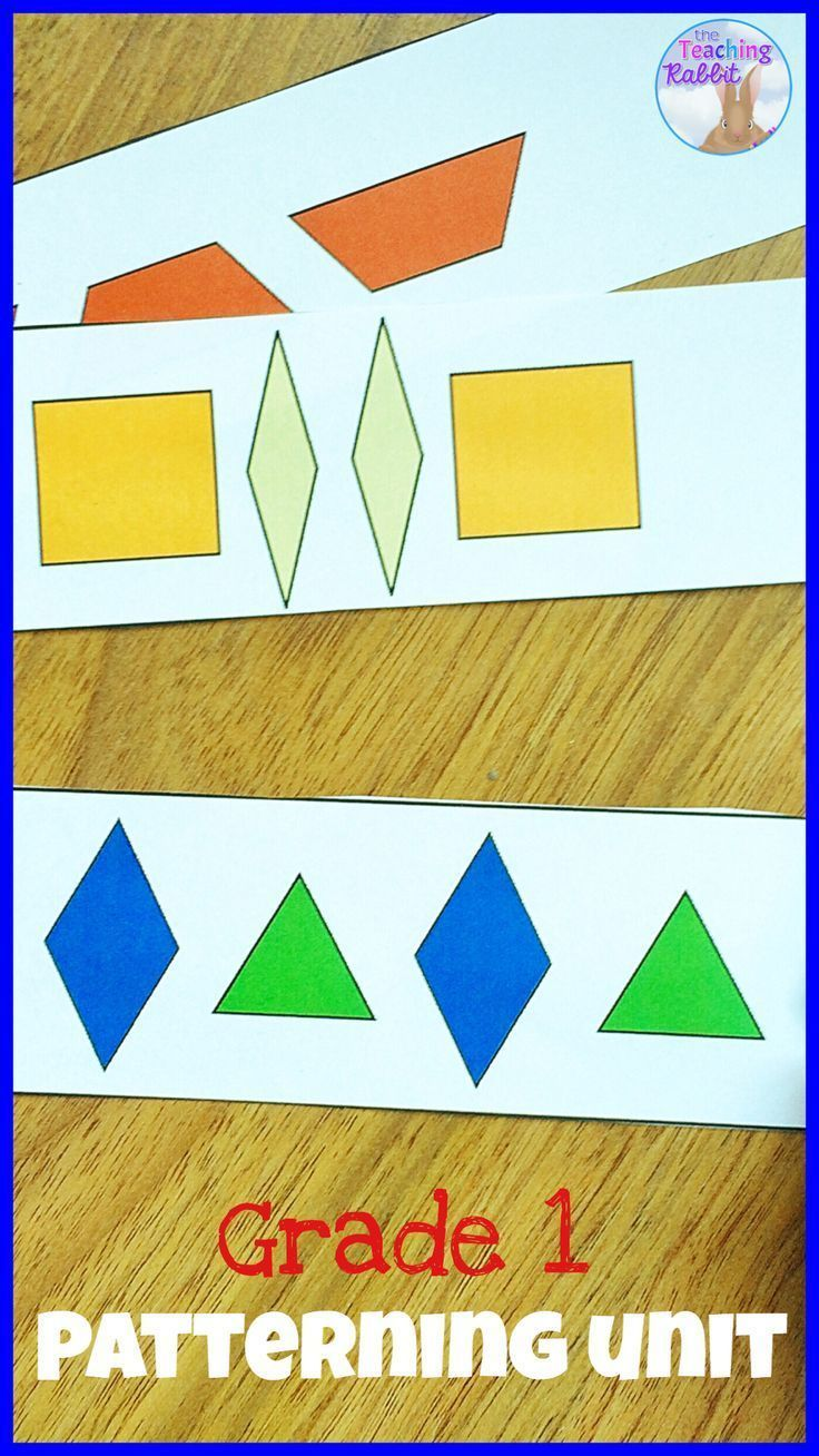 Patterning Unit For Grade 1 Tario Curriculum