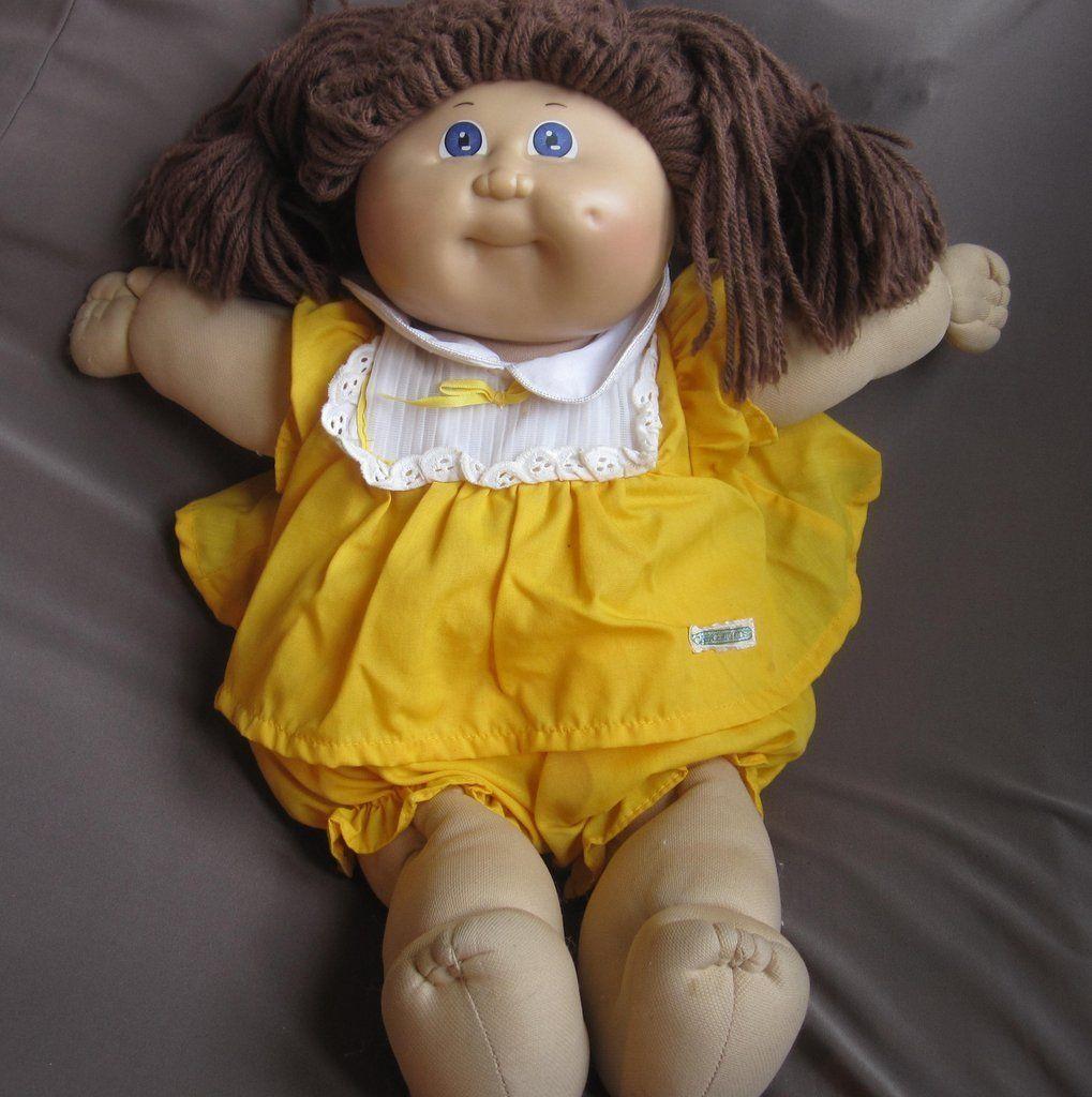 Vintage Cabbage Patch Kid Blue Eyes Brown Hair Bitcoin Accepted Cabbage Patch Kids Cabbage Patch Kids Boy Cabbage Patch Dolls