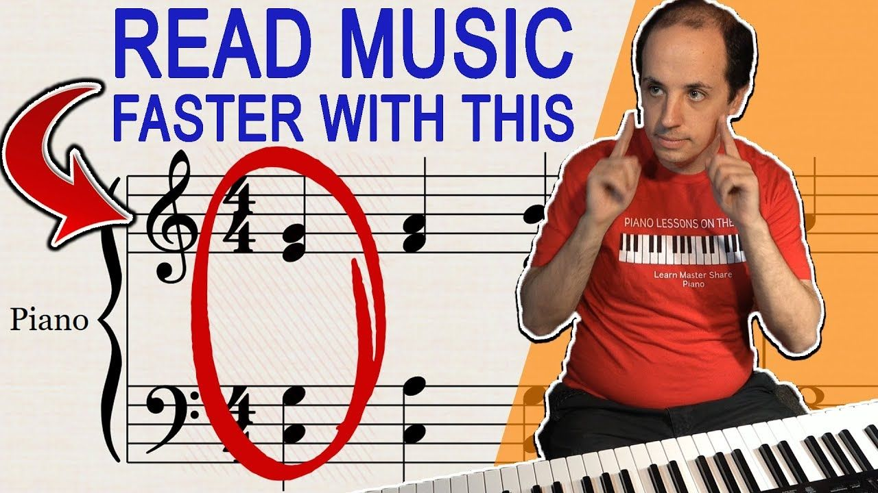 How To Read Music Faster With This Special Technique Youtube Piano Lessons Piano Music Lessons Beginner Piano Lessons How to read piano sheet music faster