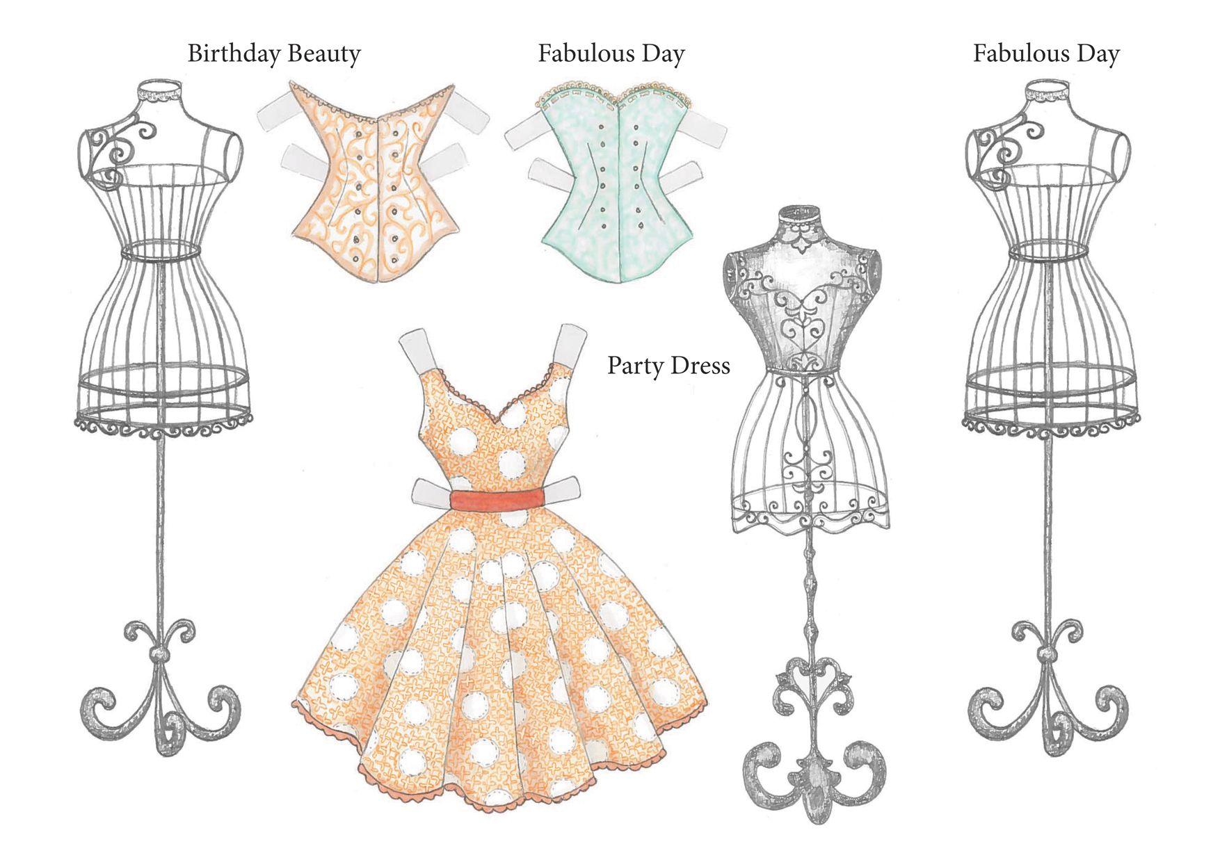 открытки в форме платья шаблоны снимки разное время