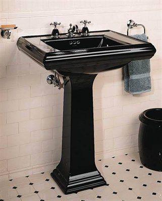 Kohler 2258 Memoirs Pedestal Sink Black Bathroom Sink Black Toilet Bathroom Sink Tops