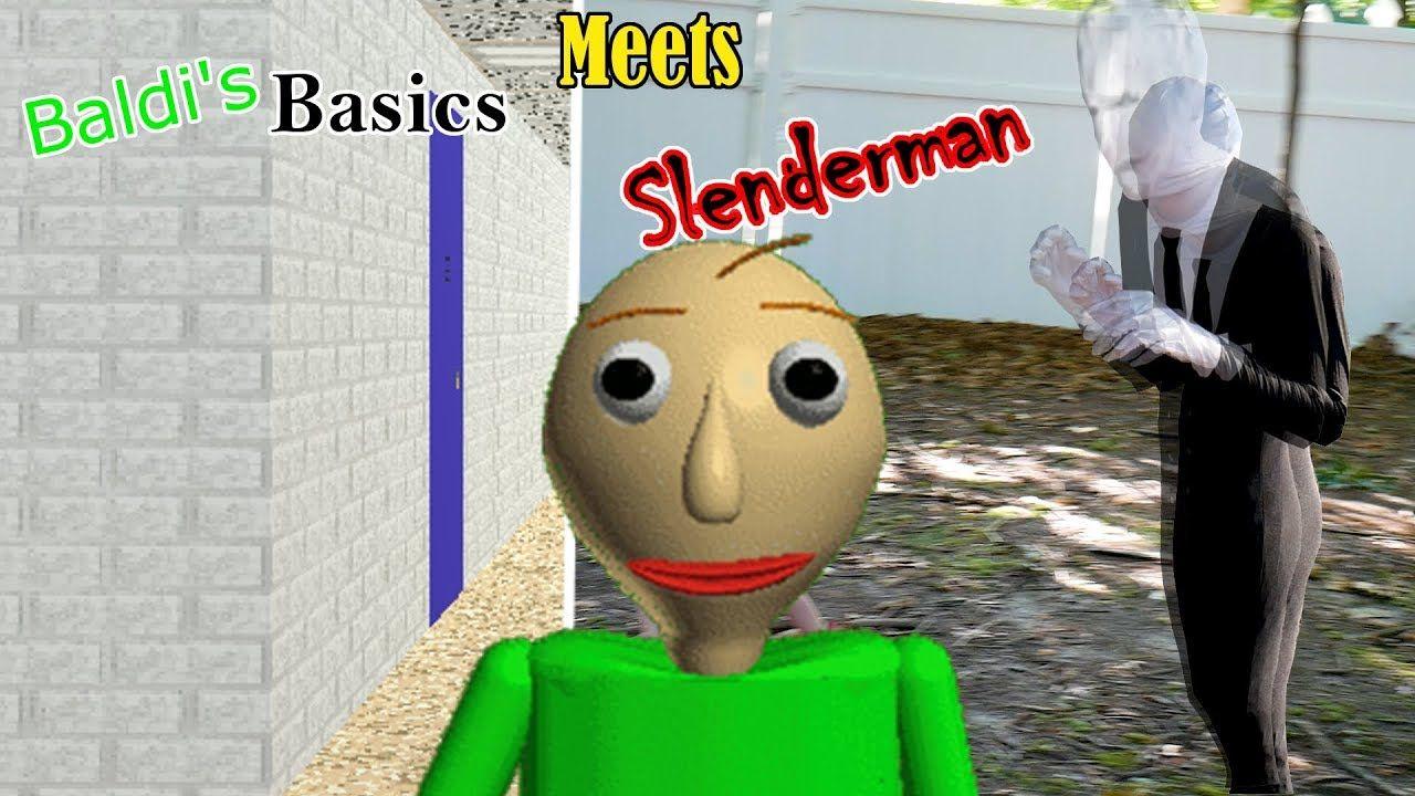 Baldi S Basics Meets Slenderman In Real Life Smashers Toy Hunt Skit Skits Slenderman Real Life