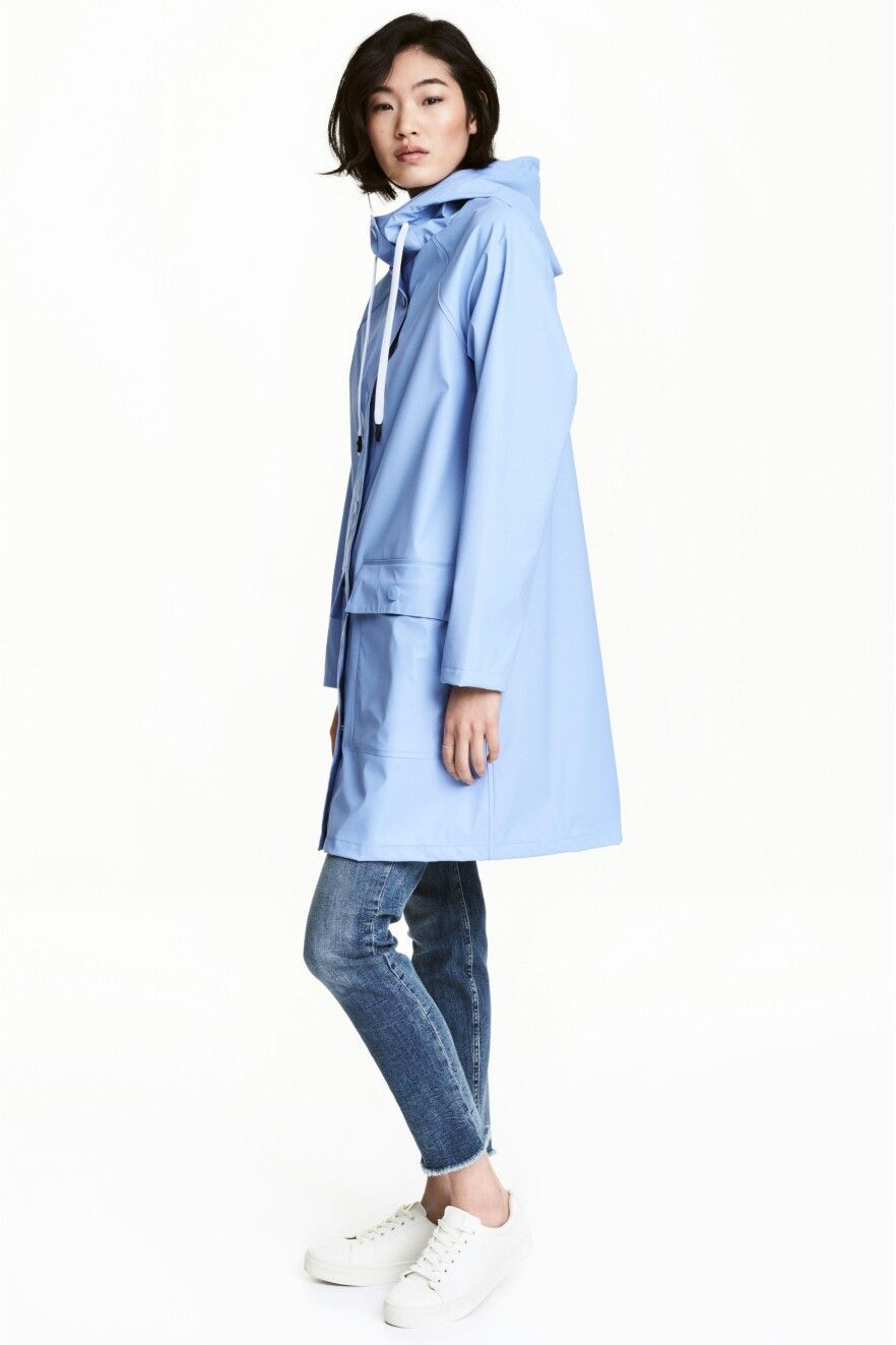 classic styles classic chic top-rated fashion Oversized outfit. Oversized blue raincoat. H&M. | Wide and ...
