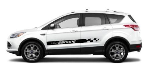 2x Ford Escape Side Skirt Vinyl Body Decal Sticker Graphics Premium Quality Ford Escape Vinyl Car Vinyl Graphics