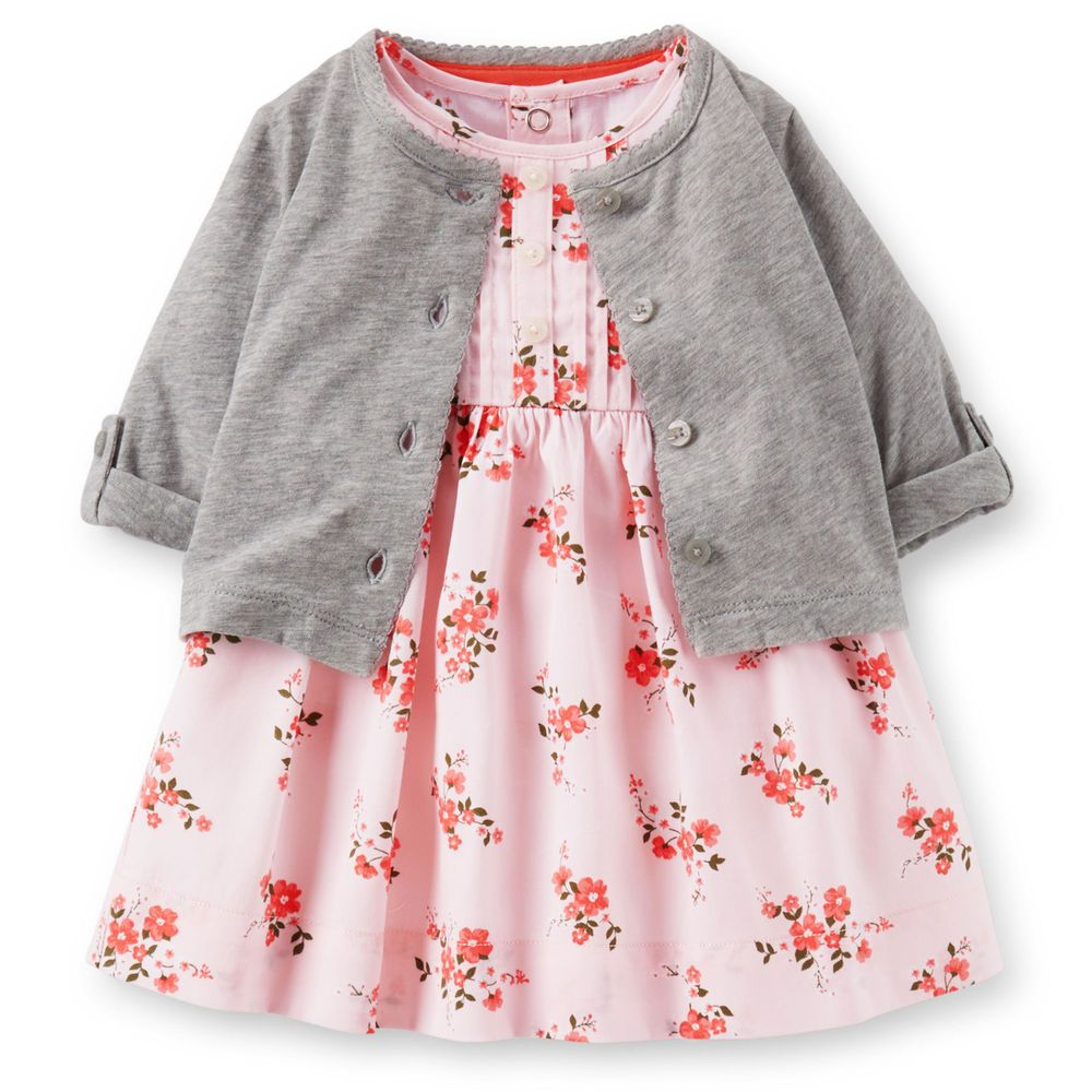 5065e1d5dd5e NWT Carter s Little Girls Dress Cardigan and Diaper Cover Size New ...