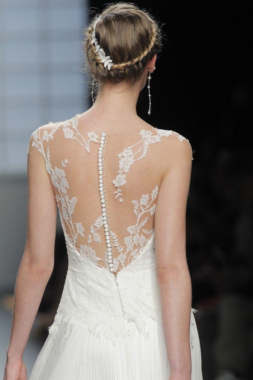 A nova tendência em vestidos de noiva Tattoo Lace | Backless wedding ...