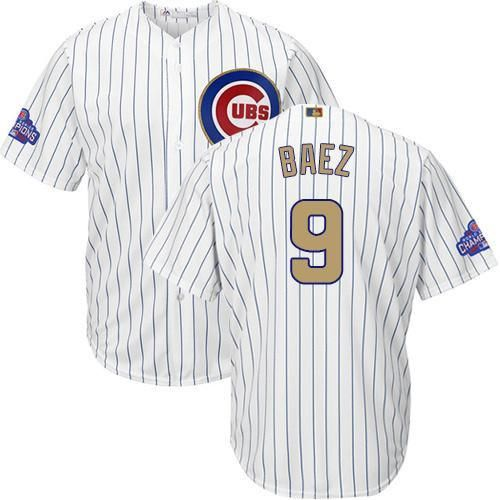 first rate 4b91a 4e31e Chicago Cubs Javier Baez Majestic Athletic Youth Gold ...