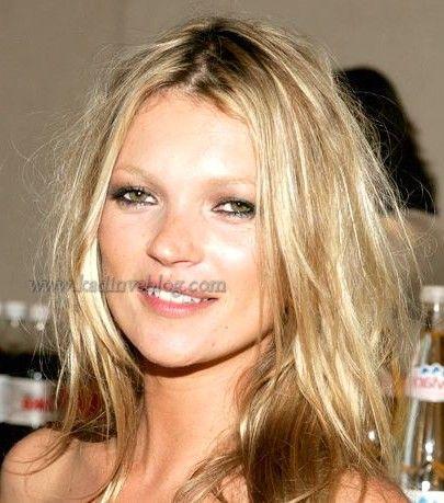 Kate Moss Genc Gosteren Sac Modeli Ve Rengi Sac Orta Uzunlukta