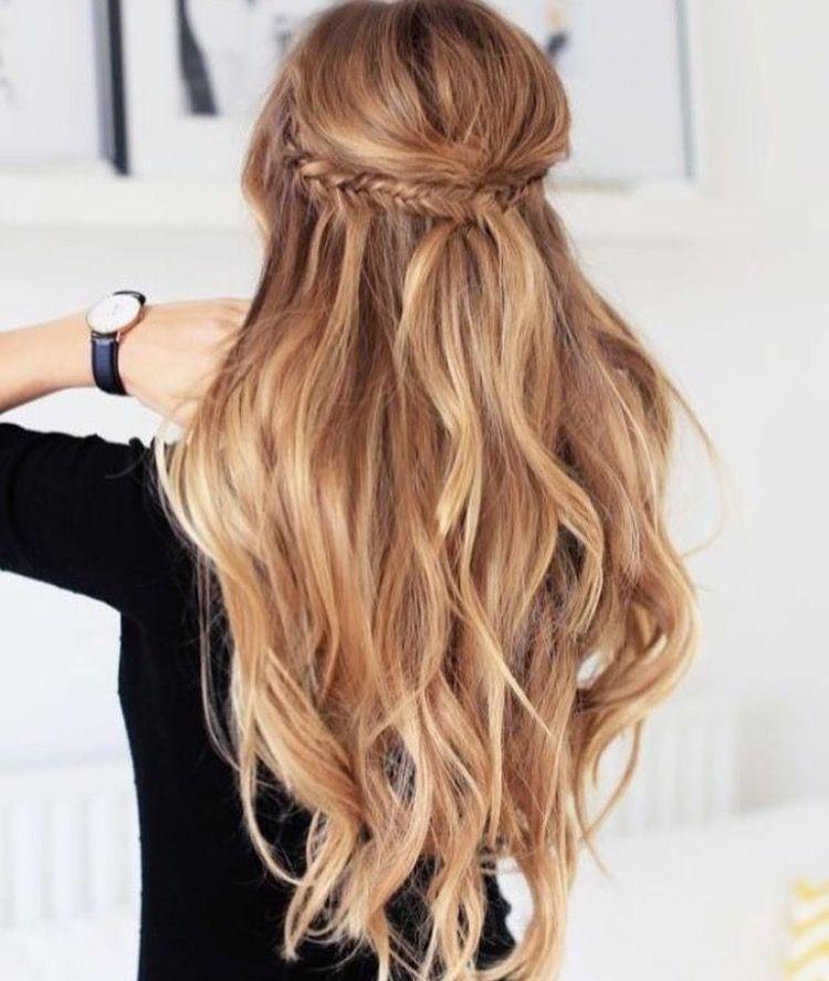 Hair With Braids Half Up Half Down Frisuren Brautjungfern