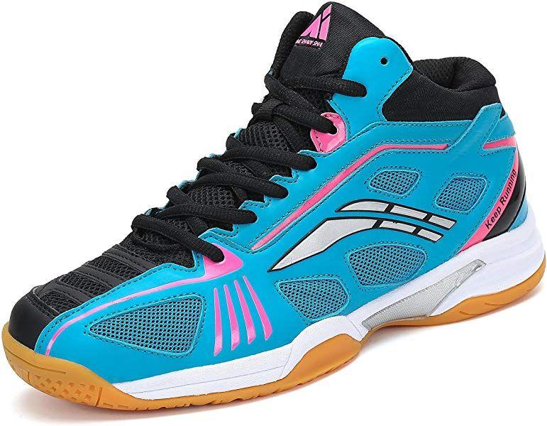 96f48ff793344 Amazon.com   Fashiontown Badminton Shoes for Men Non Slip Indoor ...