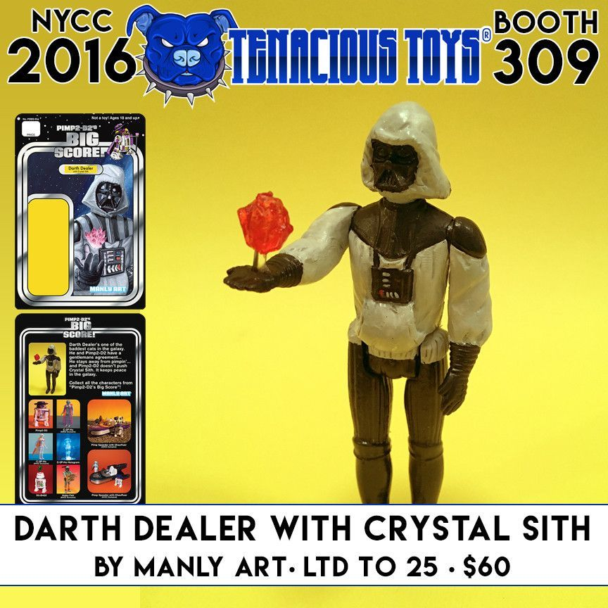 NYCC Exclusive Darth Dealer with Crystal Sith action figure by ManlyArt