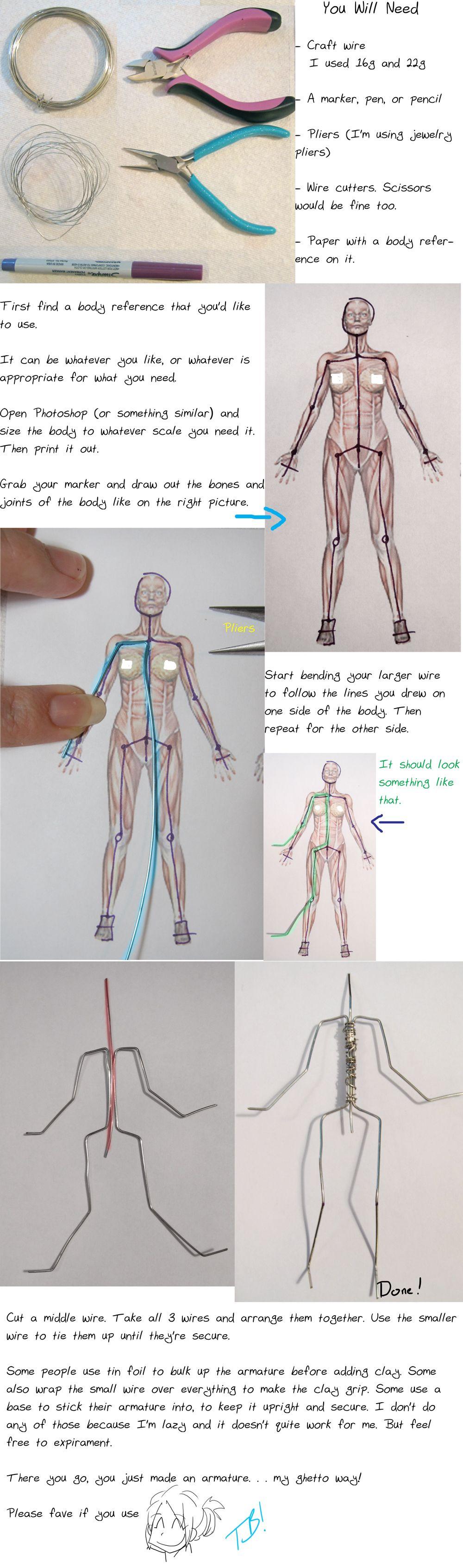 Armature Tutorial 2011 By Tsurera On Deviantart Doll Making