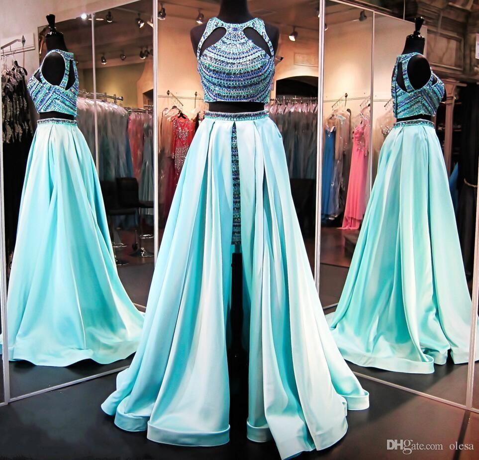 Cheap Mermaid Prom Dresses 2016 Halter Neckline Backless Design ...