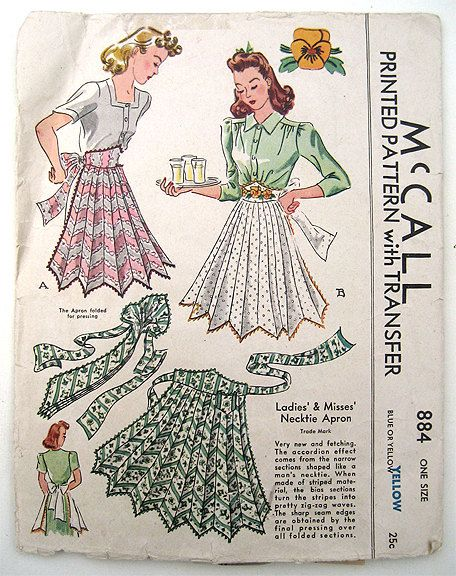 Vintage 40s McCall Apron Pattern
