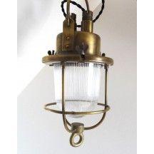 Marine Ancienne Vintagelampe Ambiance Mer Lampe Dorée Bateau sdtChQrx