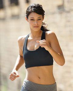 30fad3b5fc5b6 The Bella 970 Women s Nylon Spandex Sports Bra os perfect for sports or the  gym