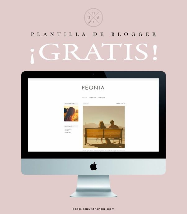 Smuk Things Blog Plantilla PrediseÑada Gratis Blogger Templates Free