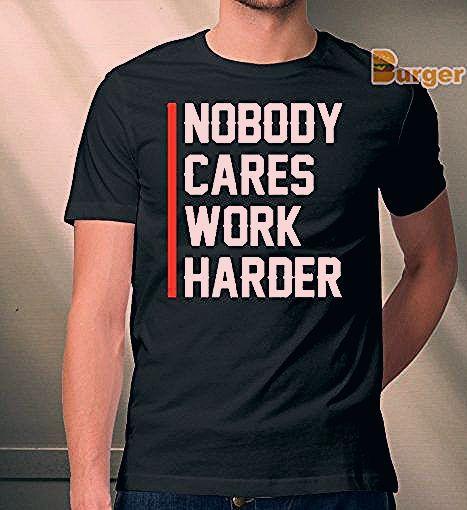 Photo of nobody cares work harder lamar jackson Tee Shirt – Teefoody.com