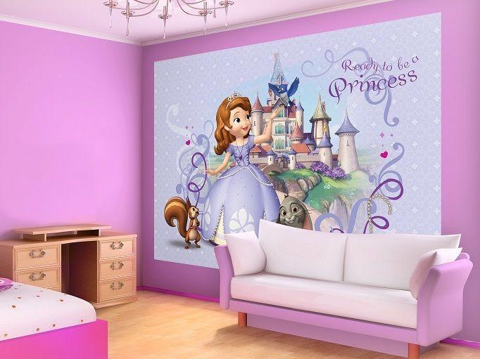 Grande papel pintado fotomural para de chica habitaci n for Habitaciones infantiles disney
