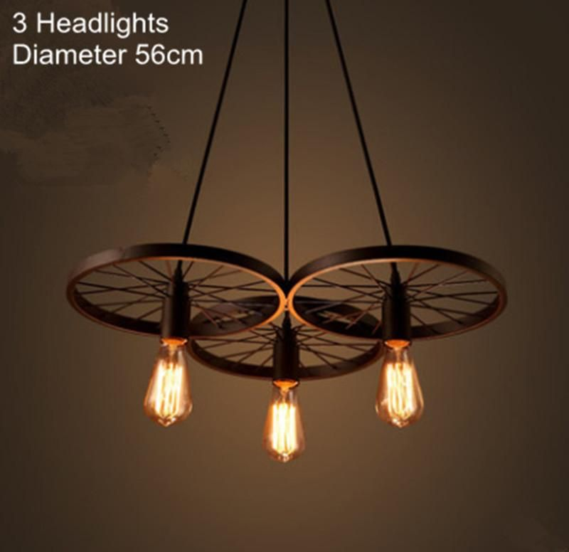New modern diy loft retro iron bicycle wheels pendant lights new modern diy loft retro iron bicycle wheels pendant lights ceiling lamp fixture e27 for coffee bar mozeypictures Images