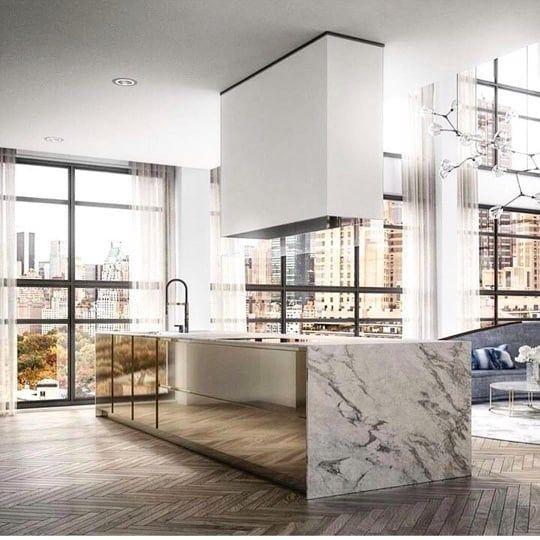 Courtney Schrank Design Studio Sur Instagram Floored Gold Mirror And Marble Island Where Have Modern Kitchen Design Kitchen Interior Best Kitchen Designs